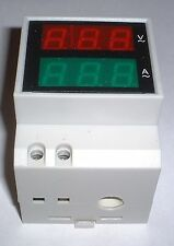 DIN Rail LED Digital AC Volt/Amp 80-300v 0-100A Built in CT    UK stock
