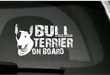 Adesivo per automobile Bull Terrier On Board per amanti dei cani