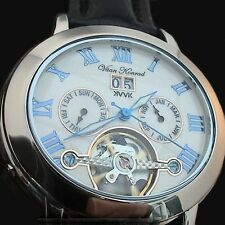 NEW MENS AUTOMATIC VAAN KONRAD 35 JEWEL OPEN HEART WATCH. UNIQUE OVAL DESIGN!!