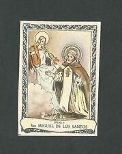 Estampa antigua pequeña de San Miguel de los Santos andachtsbild santino