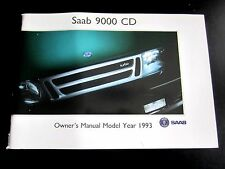 SAAB 9000 CD - 1993 UK OWNERS MANUAL HANDBOOK Turbo / 4 Door / Aero