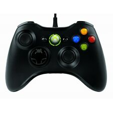 Microsoft Xbox 360 Wired Controller Negro Para Windows PC Nuevo