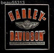"HARLEY DAVIDSON 2003 100th ANNIVERSARY ""VARSITY"" VEST JACKET PIN"