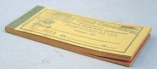Vintage 1930's  Jersey Gold Creameries Inc. -- Booklet of Milk Coupons