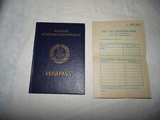 DDR Reisepass von 1984 mit vielen Stempeln und Zollerklärung keine Fehlseiten