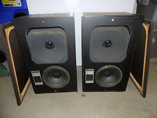 Vintage Pair of 70's Jennings Research Wooden Stereo Speakers Work & Sound Great