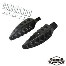 Aluminum Male Motorcycle Footpegs Footrests Foot  Pegs For Harley Black / Chrome