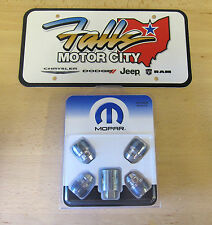 Mopar Chrysler Jeep Dodge Ram Wheel Locks Kit Set of 4 & Key OEM