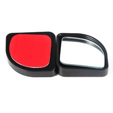 Black Car Blind Spot Rear View Mirror Fan-shaped 360°Rotatable Adjustable 2pcs