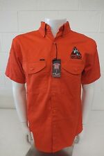 Lapco Triton Diving Shirt Heavy-Duty Orange Button Front Shirt Men's Small NEW