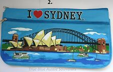 1x Australian Souvenir Large Canvas Pencil Case - Sydney Harbour & Opera House