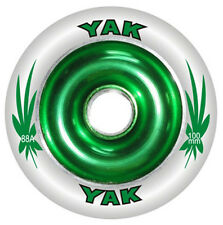 2-100mm x 88a YAK Metalcore Scooter Wheel with bearings, choice of eight colors
