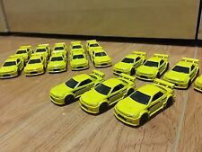 3 Hot Wheels NISSAN SKYLINE GT-R R32 Yellow NIGHT BURNERZ 5 Pack Exclusive