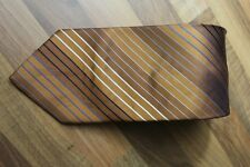 KR0921 Jan Paulsen Krawatte 100% Seide Gold Blau Schwarz Weiß 150cm Sehr gut