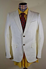 NWD (36R) Nino Cerruti Men's White Cotton Blend Classic Blazer Sport Coat Jacket
