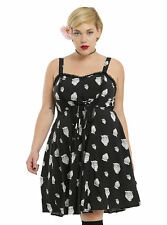 Tripp Torrid Dress Black White Owl Plus Size 1 New w tags punk rockabilly goth