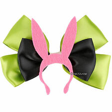 Bob's Burgers Louise Pink Bunny Ears Hat Cosplay Hair Bow Pin Clip Costume NEW
