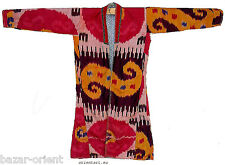 antik Usbekische Ikat Frauen Mantel Afghan Antique women's silk coat chyrpy No4