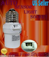 New White Dusk To Dawn Photocell Light Control Auto Sensor Light socket