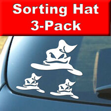 Harry Potter - SORTING HAT - 3 Pack - Vinyl Decal, Car, Laptop, Decal Sticker