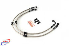 TRIUMPH TRIDENT 900 1991-1998 AS3 VENHILL BRAIDED FRONT BRAKE LINES HOSES RACE