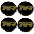 TVR Gold Logo Blk B/G Self Adhesive Set of 4 Gel Wheel Centres Choice of Sizes