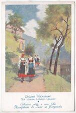 VERCELLI VALSESIA COSTUME 121 FOBELLO e RIMELLA - Pittore ROSSI Cartolina