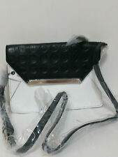 Mimco Leather Origami Couch Hip Across body Hand Bag BNWT Black White