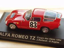 ALFA ROMEO TZ HISTORIC RALLY CAR WORKS DIECAST IXO 1964