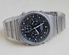 Vintage SEIKO CHRONOGRAPH SPEEDMASTER 7A28-701A Stainless Steel Mens Watch RARE