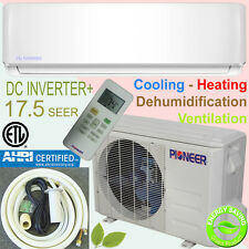 PIONEER 12000 BTU 17 SEER Inverter+ Ductless Mini Split Heat Pump, 230V, 16' Kit