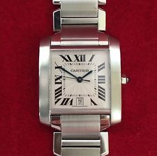 Cartier Tank Francaise Large Automatic Steel Watch 2302 - Time & Tide