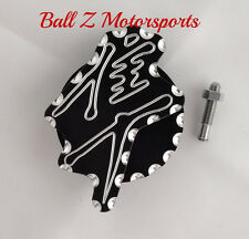 All Hayabusa Black/Silver 3D Engraved Ball Cut Front Sprocket Speed Sensor Cover