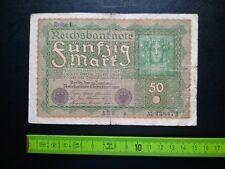 ▄▀▄ Reichsbanknote Fünfzig Mark 1919, Reihe 1, Banknote 50 Mark, Deutschland ▄▀▄