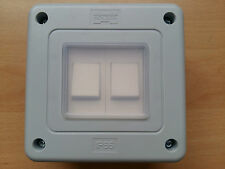 IP66 Storm Proof Waterproof Switch Switched 2 Gang 2 Way Switch Quality!