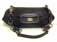 Authentic Prada Oversize Shoulder Clutch Bag. Black Leather. Ex Cond. Dustbag.