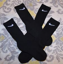 Nike 2 pairs TRAINER black cushioned crew socks Men's M MEDIUM / 6-8 shoes