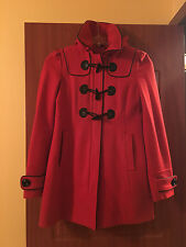 Guess Red Wool Peacoat Fall/Winter Coat Size S