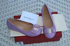 SALVATORE FERRAGAMO KIDS VARINA MINI LILA #10.5us LITTLE KIDS $325