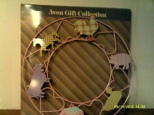 RARE Avon Country Kitchen Magnet Wreath(METAL) W/6 MAGNETS-NEW BOX-FREE SHIPPING