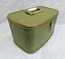 Travel Smart 1960's Luggage Vintage Green Train Makeup Case Suitcase FREE S/H