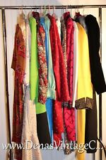 14 PC Designer Clothing Lot VTG Dress Lot 80s Oscar Feraud Silk Wool RESELL S-XL