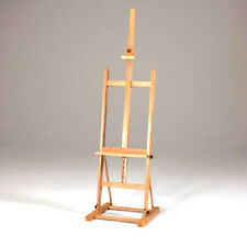 "H Frame Artist Professional EASEL upto 48 "" Canvas, Elmwood + FREE OIL PAINT DVD"