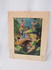 """Rare Disney Tinker Bell & Fairies Hologram Poster-11 X 14"""" Matted Frame Wall Art"""