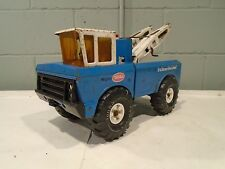Tonka Mighty Wrecker Vintage 1970s Tow Truck RARE Blue Double Booms 24hr Service