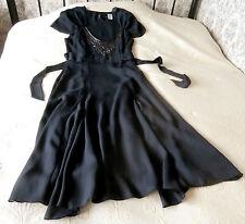 Deep mauve / purple with grey hue party dress Size 10 L Beads & sequins