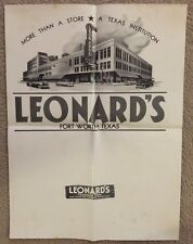 1950s Large Advertising Poster Leonard's Department Store Fort Worth Texas