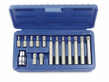 "Mannesmann Destornillador Torx Bit Set 15 PC 3/8""/10mm T20-T55/30/70mm GS"