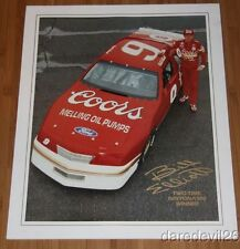 1987 Bill Elliott Coors Ford Thunderbird 2 Time Daytona 500 Winner NASCAR poster