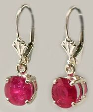 Antique 19thC Ruby Ancient Celtic Magic Amulet Lightening Plague Evil Earrings